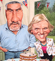 chef bake off caricatures GBBO