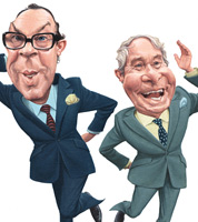 caricature of british comedians for private art collection