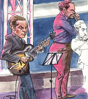 jazz caricature of guitarist phil robson